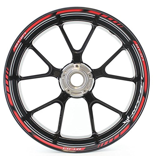 SpecialGP color-matched adhesive rim-striping wheel rim pin stripe pinstriping tape sticker decals for Yamaha MT-07 17-inch wheels Motorsticker COMINU013845