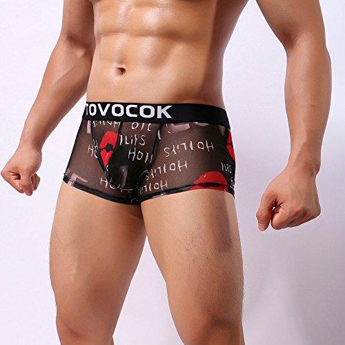 Lingerie D Sous Sexy Transparent vêtements Yuyoug Boxer Hommes ❤️ Slips Fleur aaxvFq8w