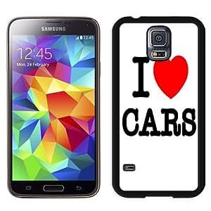 Beautiful Unique Designed Cover Case For Samsung Galaxy S5 I9600 G900a G900v G900p G900t G900w With I Love Cars Black Phone Case