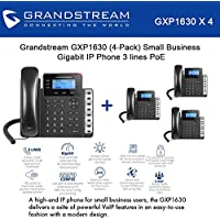 Grandstream GXP1630 Bundle of 4 Gigabit IP Phone 3 lines 3 XML LCD HD audio PoE
