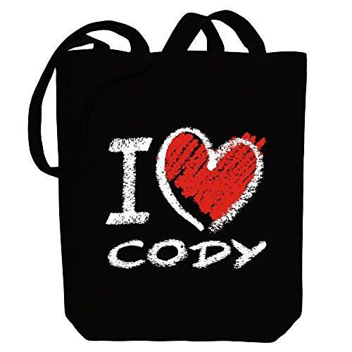 Idakoos I love Cody chalk style - US Städte - Bereich für Taschen aW0I5BqwnN