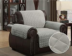 sofa cover chair throw pet dog kids protector chair deep grey light
