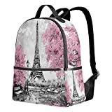 Use4 Oil Painting Paris Eiffel Tower France Polyester Backpack School Travel Bag Review
