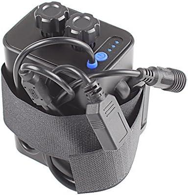 haosshop batería carcasa 8,4 V 6 x 18650 impermeable cámara ...