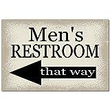 Dye-namic Art Men's Bathroom Sign 12x8 Metal Sign Home Decor Wedding Decor Restaurant Sign Pool Sign