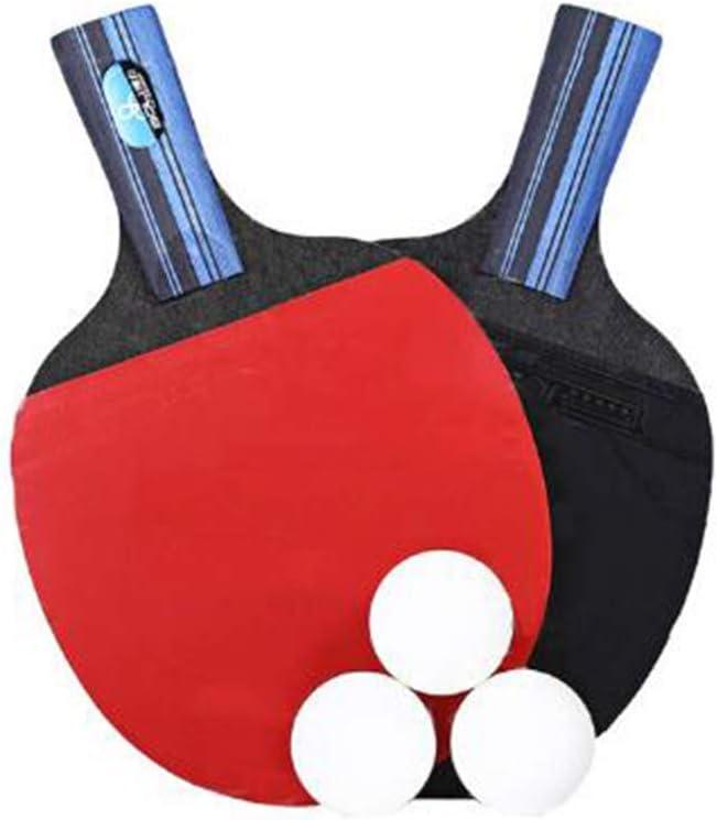 LUKU Raqueta de Tenis de Mesa, Profesional de Ping-Pong de la Raqueta Conjunto de paletas con 2 murciélagos y 3 Bolas Bolsa de Transporte, para Entrenadores, Aficionados, Principiantes