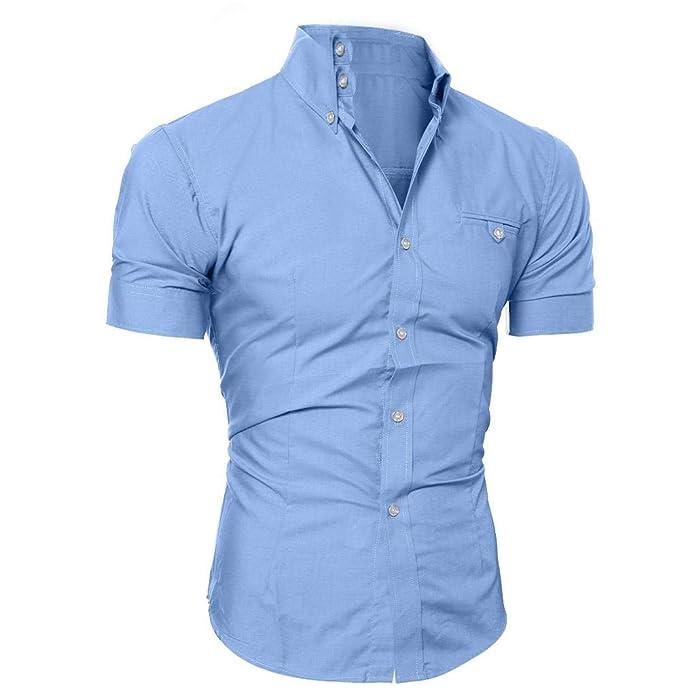 wholesale dealer 67e57 76099 Tomatoa-Herren hemd Slim-Fit Kurzarm-Hemden Hemden Shirts für Männer für  Anzug/Business/Hochzeit/Freizeit Kurzarmhemd Regular Fit Männer Shirt  T-Shirt