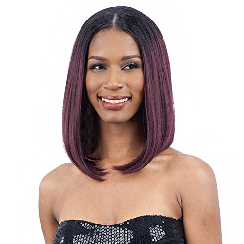 OVAL PART LONG BOB (1B Off Black) - FreeTress Synthetic Wig