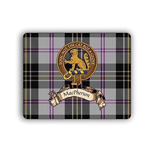 (MacPherson Scottish Clan Dress Tartan Crest Computer Mouse Pad)