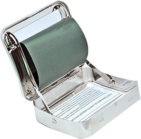 Rodillo de tabaco de cigarrillos de automático acero inoxidable máquina para liar cigarrillos Tamaño de bolsillo Caja de almacenamiento de rodillo: Amazon.es: Hogar