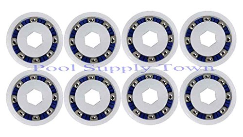 Polaris Turbine (PoolSupplyTown 8 Pack Wheel Ball Bearing Replacement for Polaris 360, 380, 3900 Sport, ATV Pool Cleaners Part No. 9-100-1108)