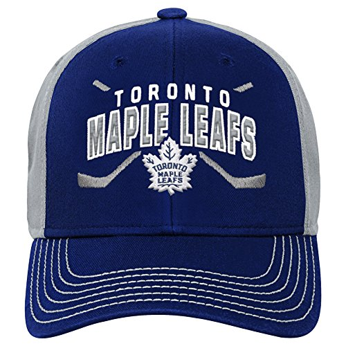 Outerstuff NHL NHL Toronto Maple Leafs Youth Boys Faceoff Structured Adjustable Hat, Leafs Blue, Youth One Size ()