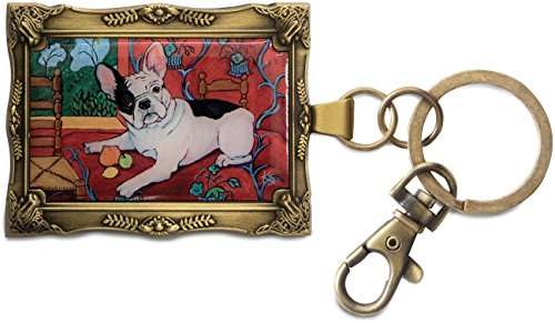 Paw Palettes Pavilion Gift Company 12030 Keychain, 2 by 2-3/4-Inch, French Bulldog Muttisse