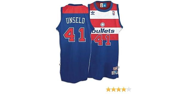 e7ebedcbd1e ... Soul Swingman Road Jersey Amazon.com NBA Mens Washington Bullets Wes  Unseld Retired Player Swingman Jersey (Blue