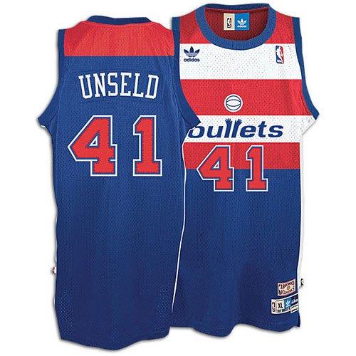 6e9ba73d523a NBA Men s Washington Bullets Wes Unseld Retired Player Swingman Jersey  (Blue