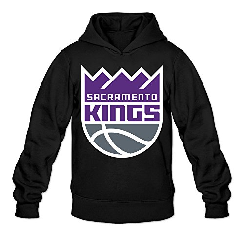 Show Time Men's Sacramento Logo Kings Classic Sweatshirt Black XL]()