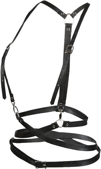VBIGER Mujer Cinturón Arnés de Cuero Cinturones: Amazon.es ...