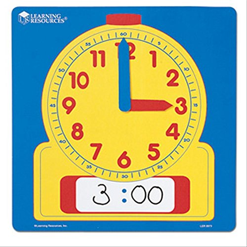 Learning Resources Write & Wipe Demonstration Clock (Hands Clock Teaching)
