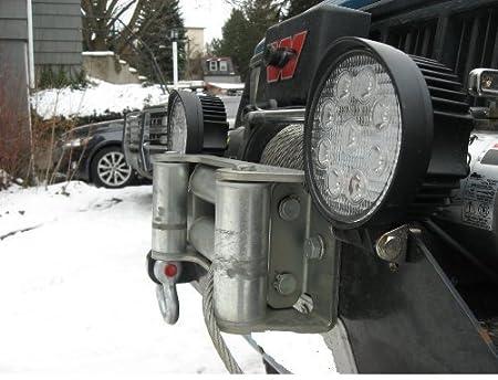 12 pi/èce BRIGHTUM 12 X 48W 4.3 inch 4560LM phare de travail LED lampe voiture SUV ATV tracteur pelleteuse camion grue 4x4 Work light Lampe /à LED pour v/éhicule tout-terrain 12V 24V Lumi/ère LE