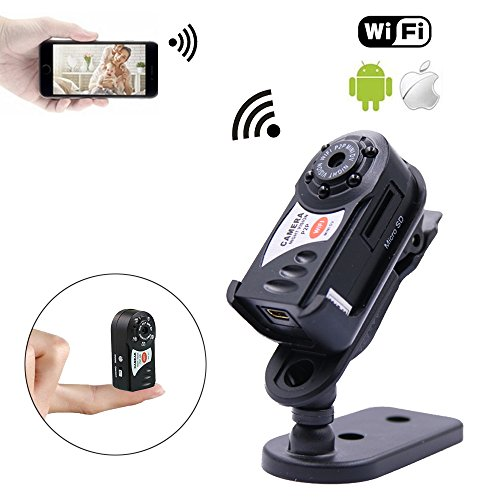 New Version Mini WiFi Camera 480P for iPhone Android, P2P Smart Video Camcorder, Hidden Security Camera with Infrared Night Vision for Car Recorder Home Surveillance
