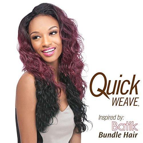 (Outre Quick Weave Batik Bundle Hair Wig - BRAZILIAN - 4 Med Brn by Outre)