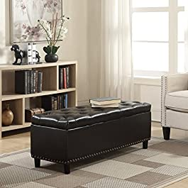 Belleze 48″ Rectangular Faux Leather Linen S...