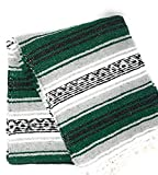 Mexitems Mexican Falsa Blanket Authentic 52'' X 72'' Pick Your Own Color (Grey/Forest Green/Black)