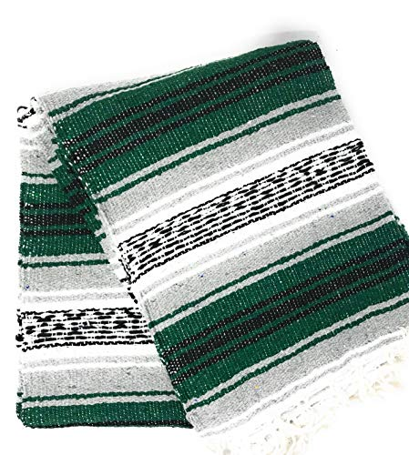Mexitems Mexican Falsa Blanket Authentic 52'' X 72'' Pick Your Own Color (Grey/Forest Green/Black) by Mexitems