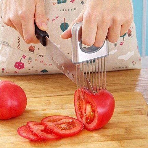 Stainless Steel Egg Slicer Egg Cutter Kitchen Tool (Blue) - 9