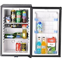 SMETA 110v/12v RV Car Cooler Portable Absorption Refrigerator with Lock,Black