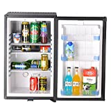Appliances : SMETA 110V 12V 1.6 cu ft Compact Refrigerator with Reversible Door,Low Noise Beverage Car Cooler Fridge,BLACK