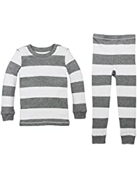 Unisex Pajamas, 2-Piece PJ Set, 100% Organic Cotton (12...