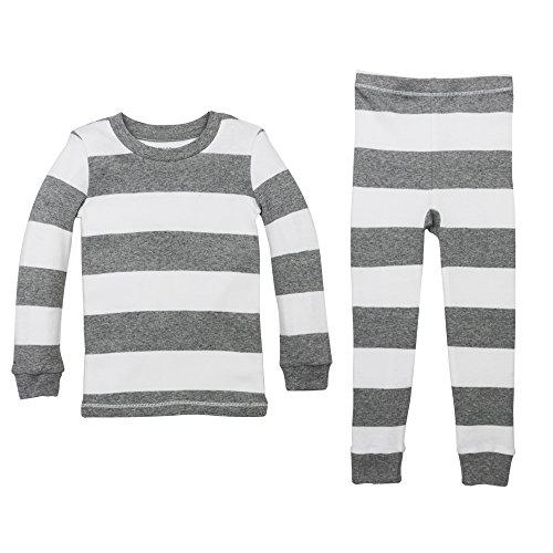 Burt/'s Bees Baby Boy Long Sleeve Bodysuit Set ~ White /& Gray ~ Organic Cotton ~