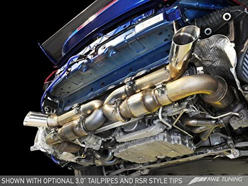 Amazon.com: AWE Tuning 3010-32012 Porsche 997.2TT Performance Exhaust System (Polished Silver RSR Style Tips): Automotive