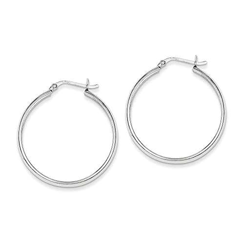 Classic Squared Hoop .925 Sterling Silver Earrings