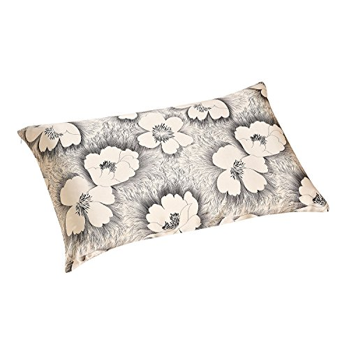 ALASKA BEAR - Natural Silk Pillowcase, Hypoallergenic, 19 Momme, 600 Thread Count 100 Percent Mulberry Silk, Queen Size with Hidden Zipper, Custom Printing Pillow Case for Home Décor(1, Dandelion)