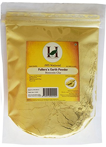 100% Pure Organically Processed Fuller's Earth Clay (Multani Mitti) Bentonite Clay- 1/2 LB - 227 gms - 8 oz
