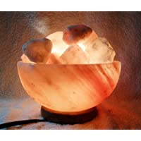 2 Himalayan Fire Bowls Crystal Salt Lamp Filled with Rock Salt by HEALTHandMED