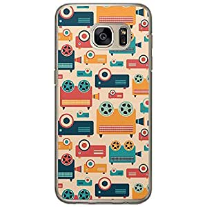 Loud Universe Samsung Galaxy S7 Retro Pattern Video and Film Design Transparent Edge Case - Multi Color
