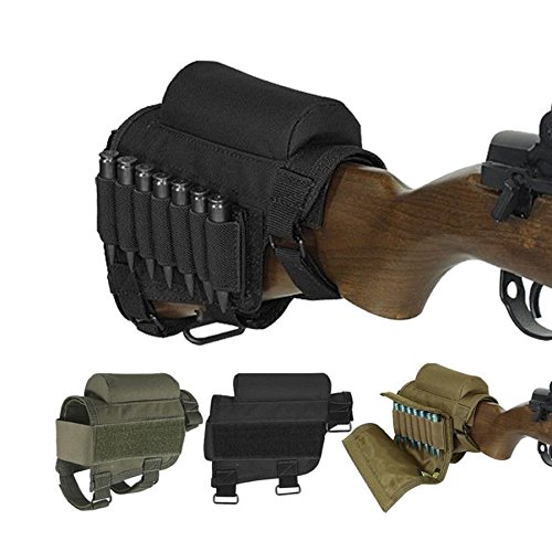 Tactical Buttstock Cheek Rest with Ammo Carrier Case Holder for .308 .300 Winmag