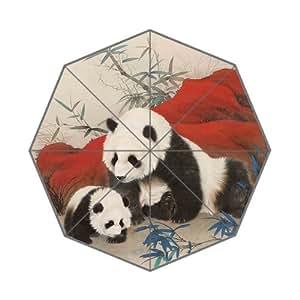 2014 New Arrival Design Panda Pattern Custom Durable Umbrella