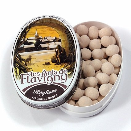 Anise Candy Recipe - Abbaye de Flavigny Oval Traditional Tin Licorice Flavored Anise drops all natural, 1.8 oz, One