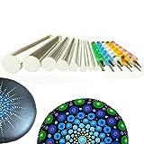 Mandala Rock Painting Pen Dot Dotting Tools Stencil Brush Set 13 PCS Flat Head 4mm 5mm 6mm 8mm 10mm 12mm 14mm Diameter 5 Stylus (set1)