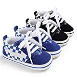 Baby Girls Boys Canvas Sneakers Soft Sole High-Top
