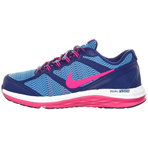 Nike 654143 001 - Zapatillas de cuero para mujer 38.5EU/ 24.0cm, color, talla 38 1/2 - azul