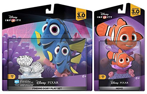 Disney Nemo Finding Characters - Disney Infinity 3.0: Finding Dory Play Set w/ Nemo - Movie Figure Set NEW