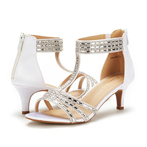 Roxanne DREAM Heeled Fashion Open Pump Women's White Toe Sandals PAIRS Stilettos EqgwrER