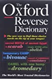 The Oxford Reverse Dictionary, , 019860176X