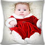 Lidoy Adorable Cute Baby Girl Custom Zippered Leaning Cushion 45x45cm(18x18inch) Normal Size 450g(1lb) (Twin sides Print)