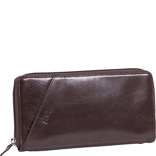 Derek Alexander Passport Travel Wallet, Brown, One Size by Derek Alexander Leather